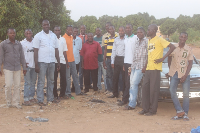 The PACP delegation in Yelekebougou