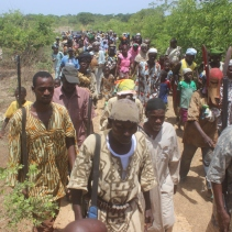 The village of Baga comes to welcome Yeah Samake