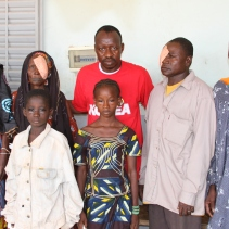 Aboubacar Sidiki Fomba, eye doctor and Secretary General of PACP offers free cataract surgery to the people in Baguineda