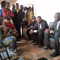 Meeting the elders of Koutiala