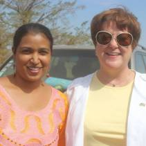 The First Lady of Ouelessebougou, Marissa Samake and The US Ambassador Mary Beth Leonard