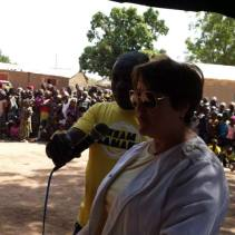 Ambassador Leonard speaks to the population of Tenkele