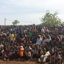 The people of Ouelessebougou gather to celebrate