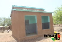 The headmasters office is a two room office housing the principal and textbook storage