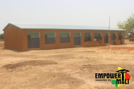 This beautiful 3-classroom school has become the hope of the children of Ferekoroba, especially our girls.