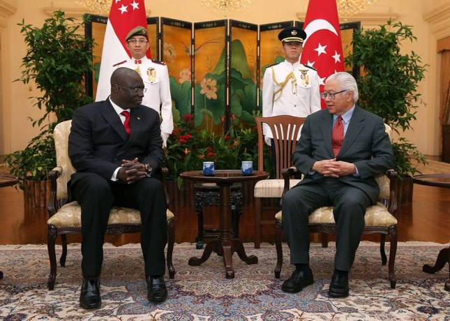 Yeah presented his credentials to the President of Singapore His Excellency Tony Tan Keng.