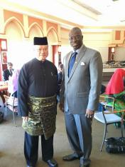 Yeah w/ the Hon Pehin Dato Lim Jock Seng. Brunei's 2nd Minister of Foreign Affairs and Trade at a breakfast he hosted