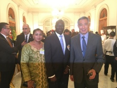 Meeting Singapore PM H.E Lee Hsien Loong
